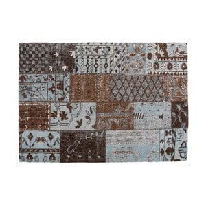 Hnědý koberec s příměsí bavlny Cotex Restar, 140 x 200 cm