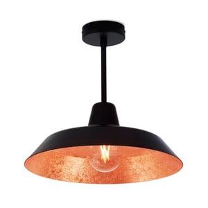 Černo-měděné stropní svítidlo Bulb Attack Cinco