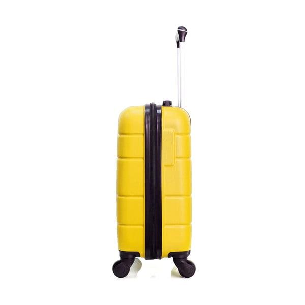 Žlutý cestovní kufr na kolečkách Hero Santiago,30l