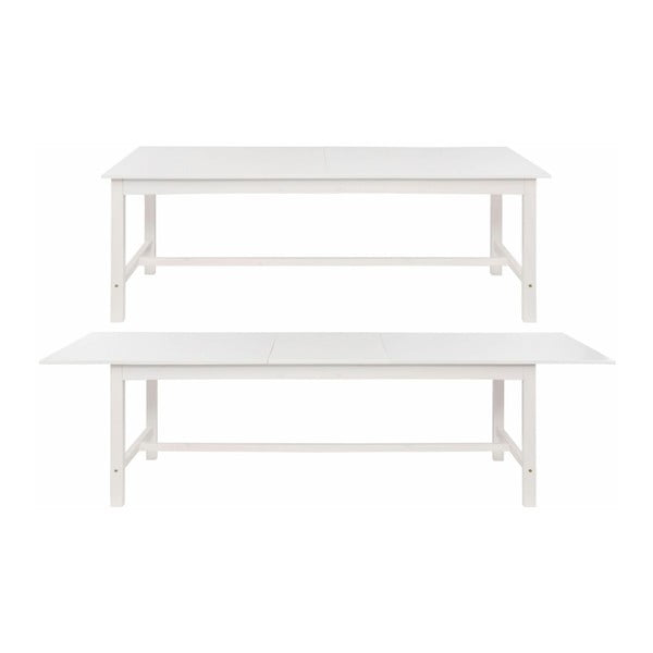 Bílý rozkládací jídelní stůl z borovicového dřeva Støraa Randy, 90x140cm
