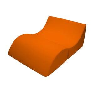 Oranžové variabilní lehátko/stolek 13Casa Cleo
