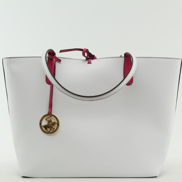 Kabelka Beverly Hills Polo Club 09 - White/Fuchsia