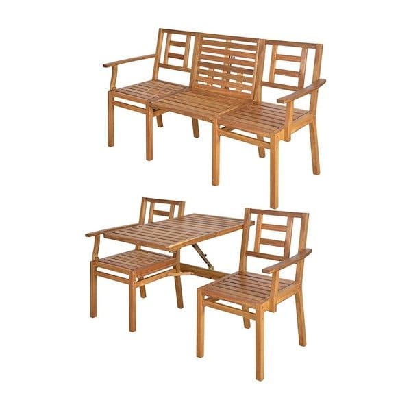 Skládací dřevěná lavice Seattle