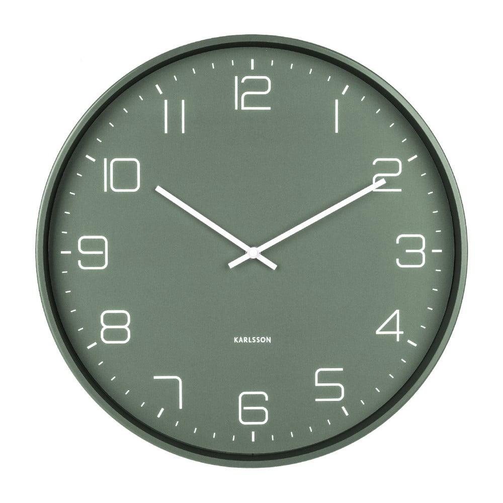 Zelené nástěnné hodiny Karlsson Lofty,ø40cm Karlsson