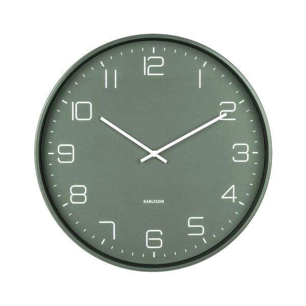 Zielony zegar ścienny Karlsson Lofty, ø 40 cm