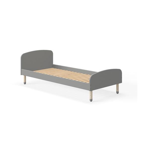 Šedá dětská postel Flexa Play, 90 x 200 cm