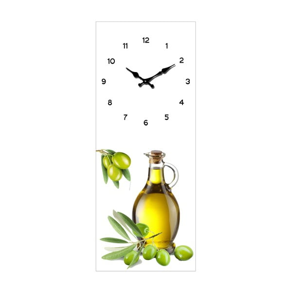 Skleněné hodiny Olivy, 20x50 cm