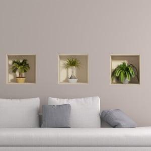 Set autocolante cu efect 3D Ambiance Palms, 3 buc.