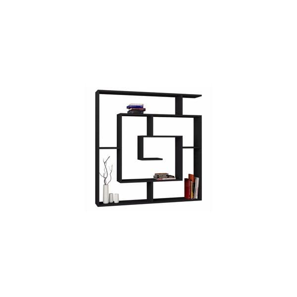 Knížní police Labyrint, černá