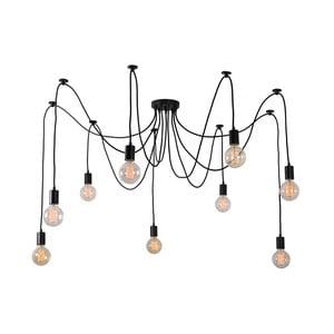 Černé stropní svítidlo s9žárovkami Filament Style Spider Lamp