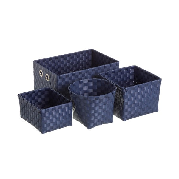 Kék tárolókosár készlet, 4 db - Unimasa