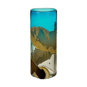Ručně vyráběná křišťálová váza Santiago Pons Ocean, výška35cm