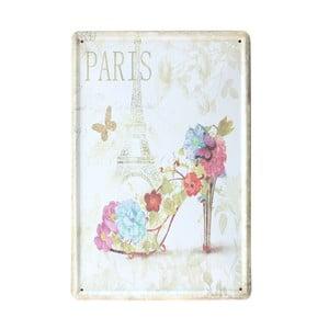 Cedule Paris Shoe, 20x30 cm