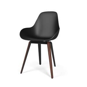 Černá židle s tmavým podnožím Kubikoff Slice