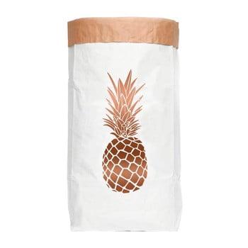 Sac depozitare din hârtie reciclată Really Nice Things Copper Pineapple de la Really Nice Things
