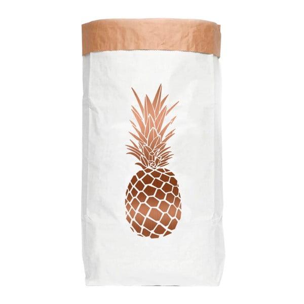 Úložný pytel z recyklovaného papíru Really Nice Things Copper Pineapple