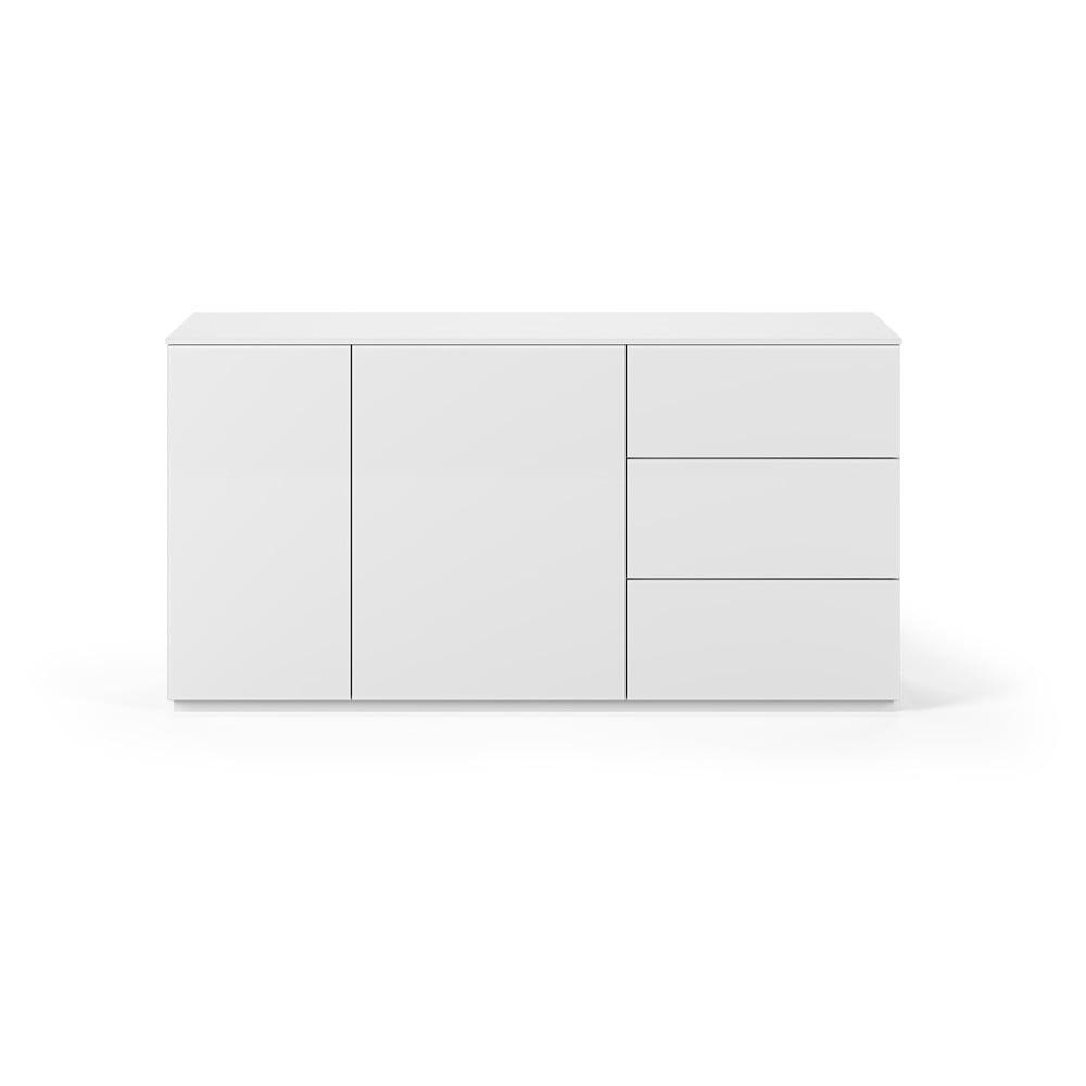 Bílá komoda s matným povrchem se 2 dveřmi a 3 zásuvkami TemaHome Join, šířka 160 cm