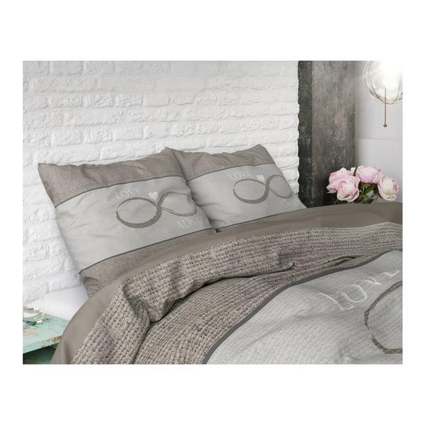 Bavlněné povlečení na dvoulůžko Sleeptime Infinity Love, 200 x 220 cm