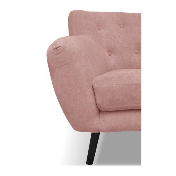 Světle růžová pohovka pro tři Cosmopolitan design Hampstead