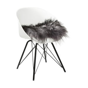 Šedý sedák na židli Woooly Icelandic Melange Grey
