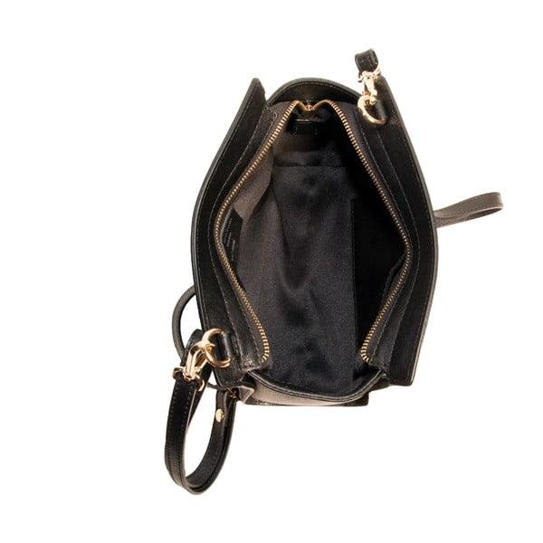 Černá kabelka z pravé kůže Andrea Cardone Mattia