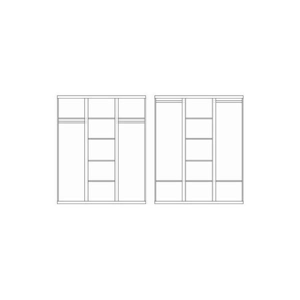 Šatní skříň Lara, 204x166 cm