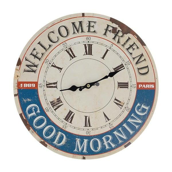 Nástěnné hodiny Welcome, 34 cm