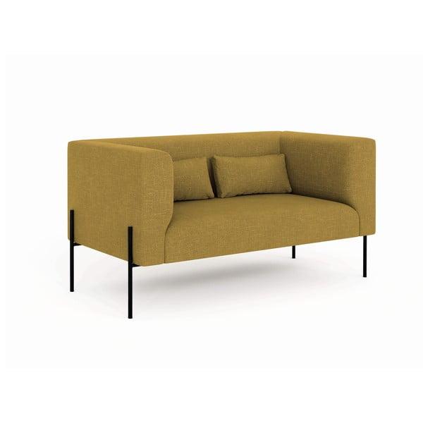 Canapea cu 2 locuri Milo Casa Nina, galben