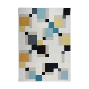 Modrý koberec Flair Rugs Illusion Abstract Blocks, 80 x 150 cm