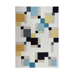 Modrý koberec Flair Rugs Illusion Abstract Blocks, 80x150cm