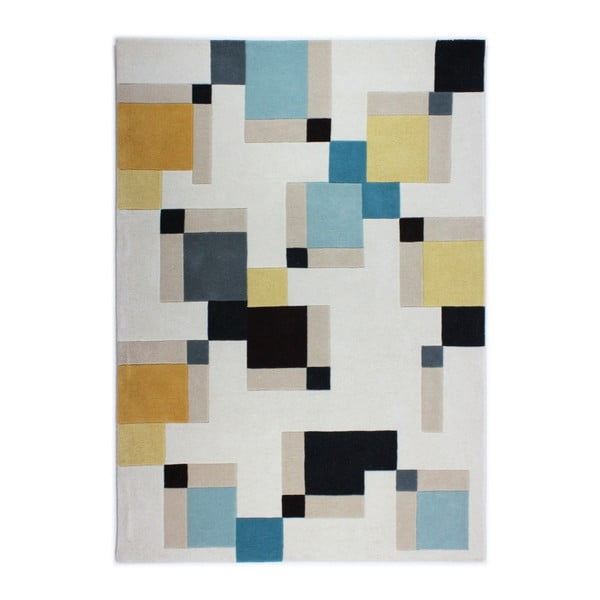 Covor Flair Rugs Illusion Abstract Blocks, 120 x 170 cm, albastru