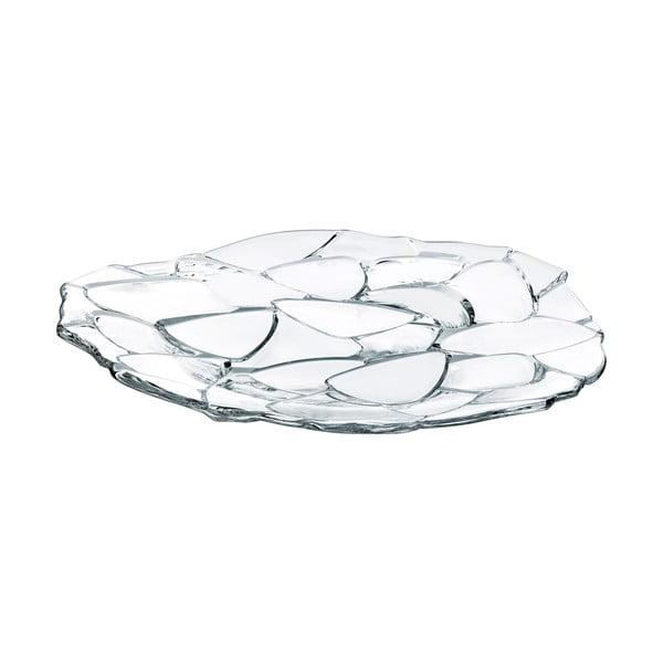 Servírovací podnos z křišťálového skla Nachtmann Petals Charger Plate, ⌀ 32 cm