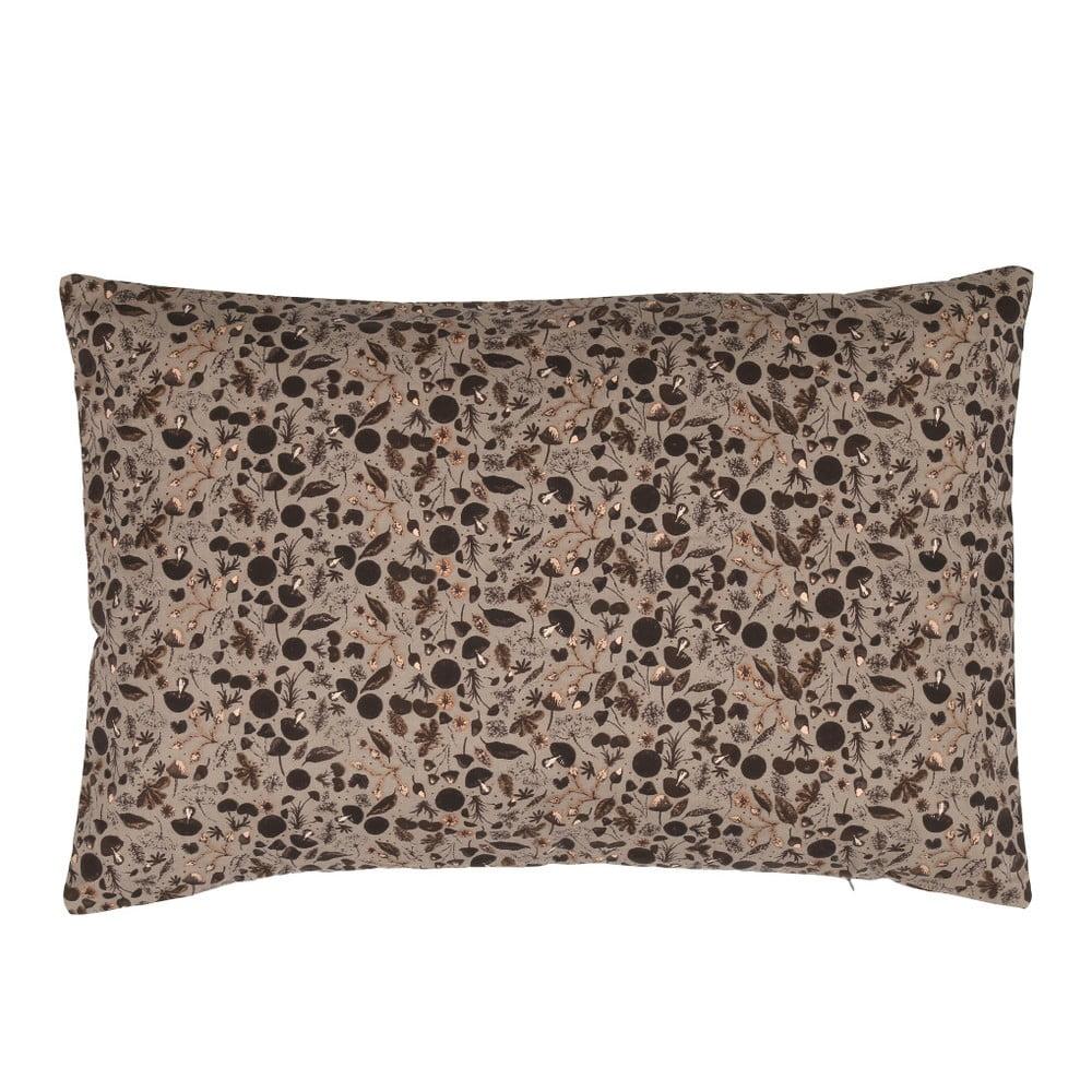 Hnědý polštář A Simple Mess Kantarel, 40x60cm