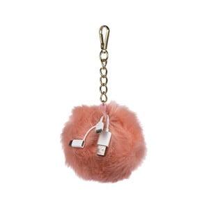 Acumulator extern mobil în formă de breloc pentru geantă Tri-Coastal Design, roz