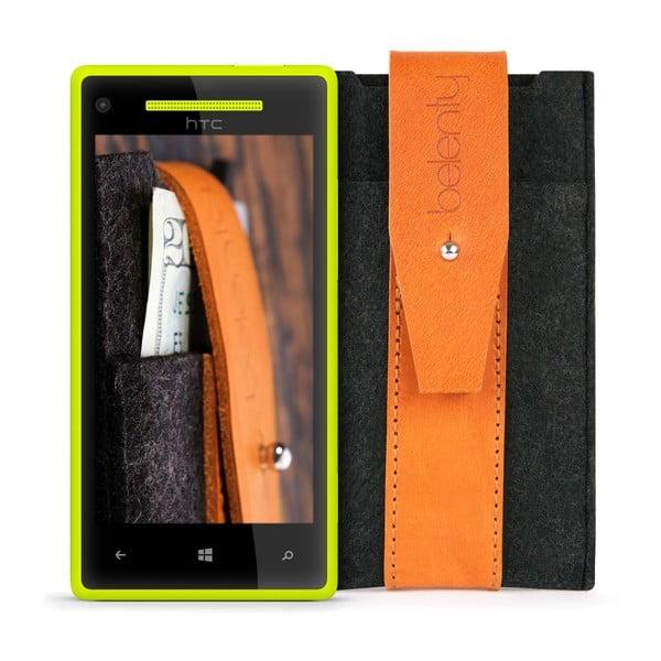 Pouzdro na HTC Windows Phone 8X Cognac