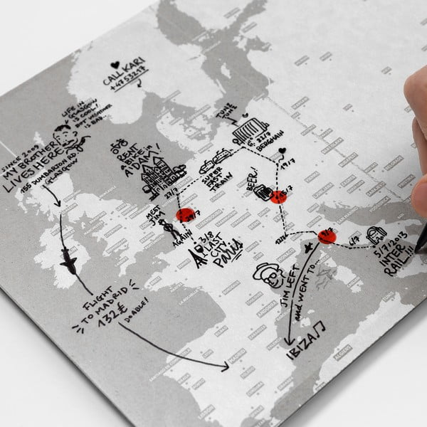 Náhradní průhledné listy pro Transparent World mapu Palomar