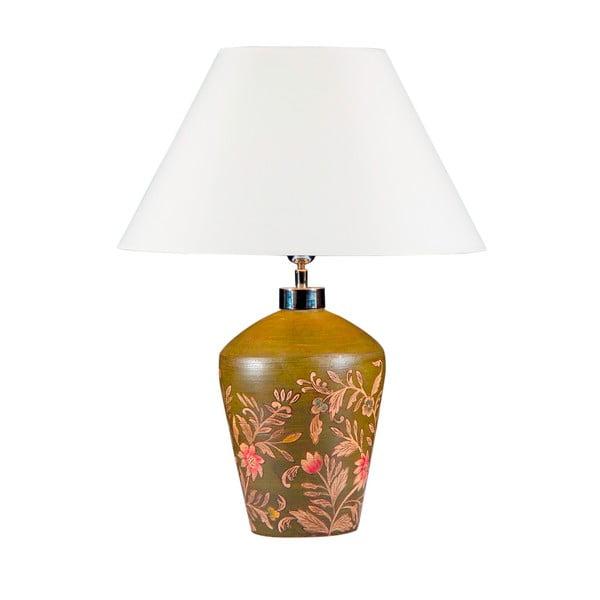 Stolní lampa Malovaná zelená
