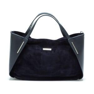 Modrá kožená kabelka Mangotti Bella