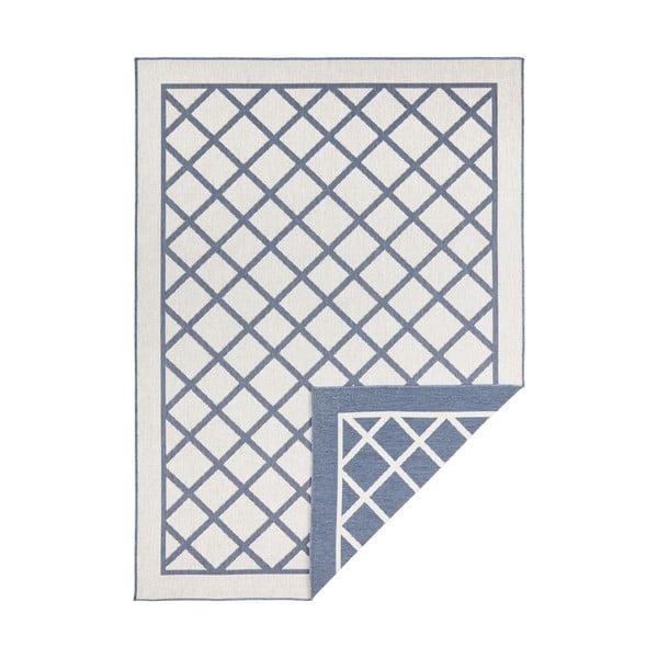 Covor adecvat pentru exterior Bougari Supreme, 150 x 80 cm, albastru-crem