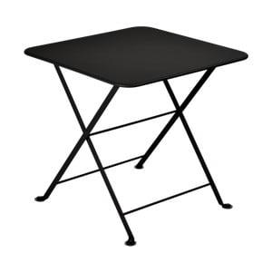 Černý dětský skládací kovový stůl Fermob Tom Pouce