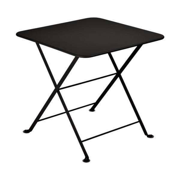 Czarny dziecięcy składany metalowy stół Fermob Tom Pouce