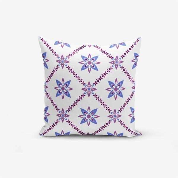 Față de pernă cu amestec din bumbac Minimalist Cushion Covers Colorful Flower, 45 x 45 cm