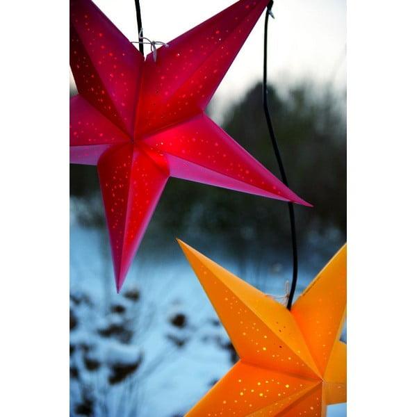 Dekorativní hvězda Damaskus Red, 60 cm