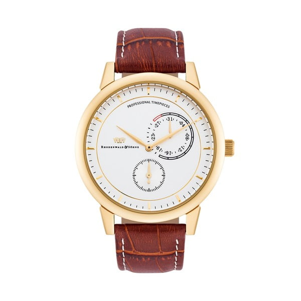 Pánské hodinky Rhodenwald&Söhne Levantos Gold/Leather