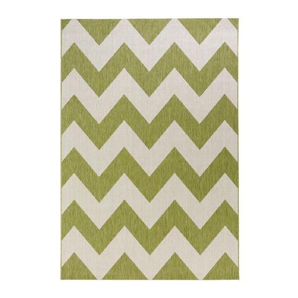 Zeleno-biely koberec vhodný aj do exteriéru Unique, 120×170cm