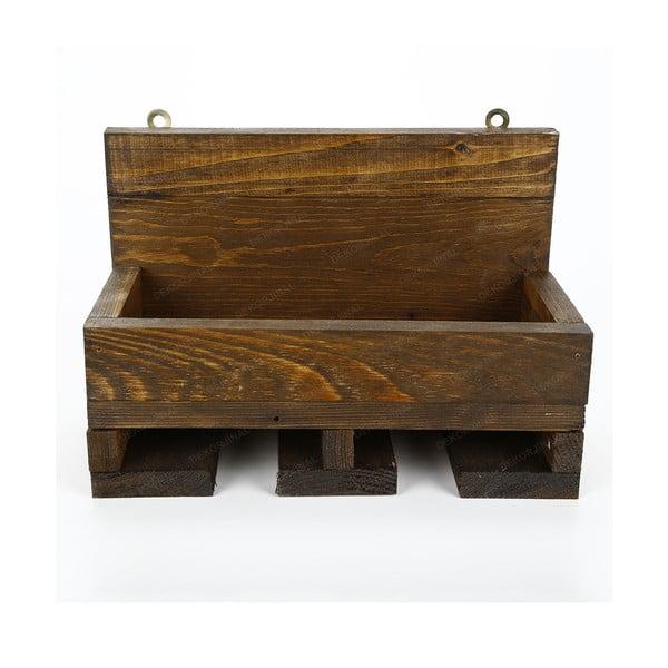 Stand pentru vin fabricat manual, din lemn masiv cu suport pentru pahare Catalin Regina, 30x20x14cm