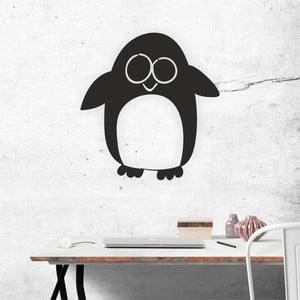 Černá nástěnná samolepicí dekorace North Carolina Scandinavian Home Decors Penguin V2, 52 x 55 cm