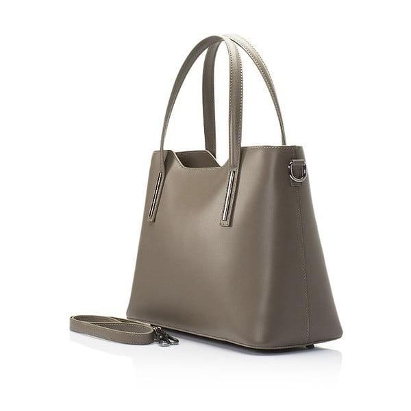 Béžová kožená kabelka Markese Bycast