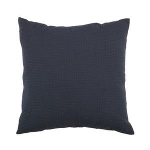 Tmavě modrý polštář WOOOD Babet, 42x42cm