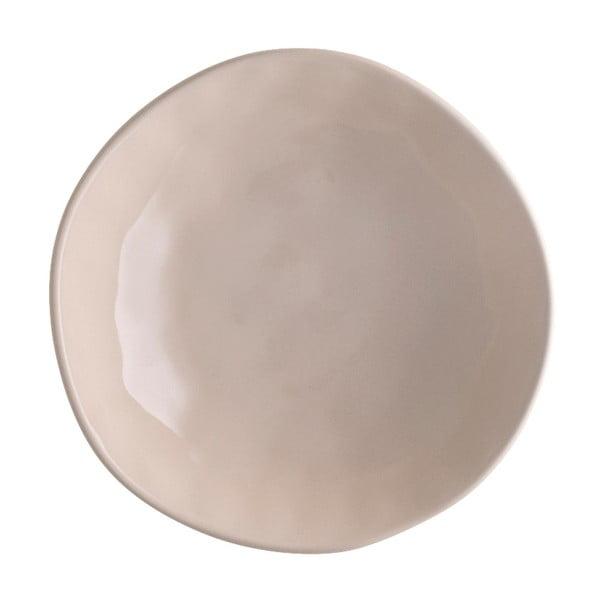 Béžový porcelánový talíř na pizzu Brandani Pizza, ⌀20,5cm